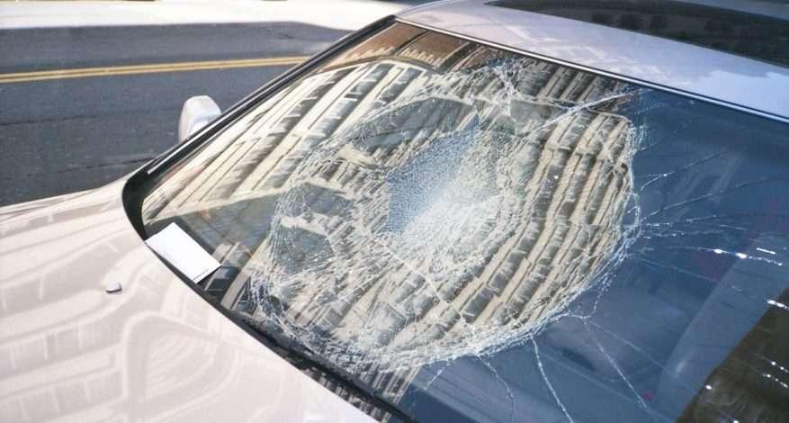 windshield damage
